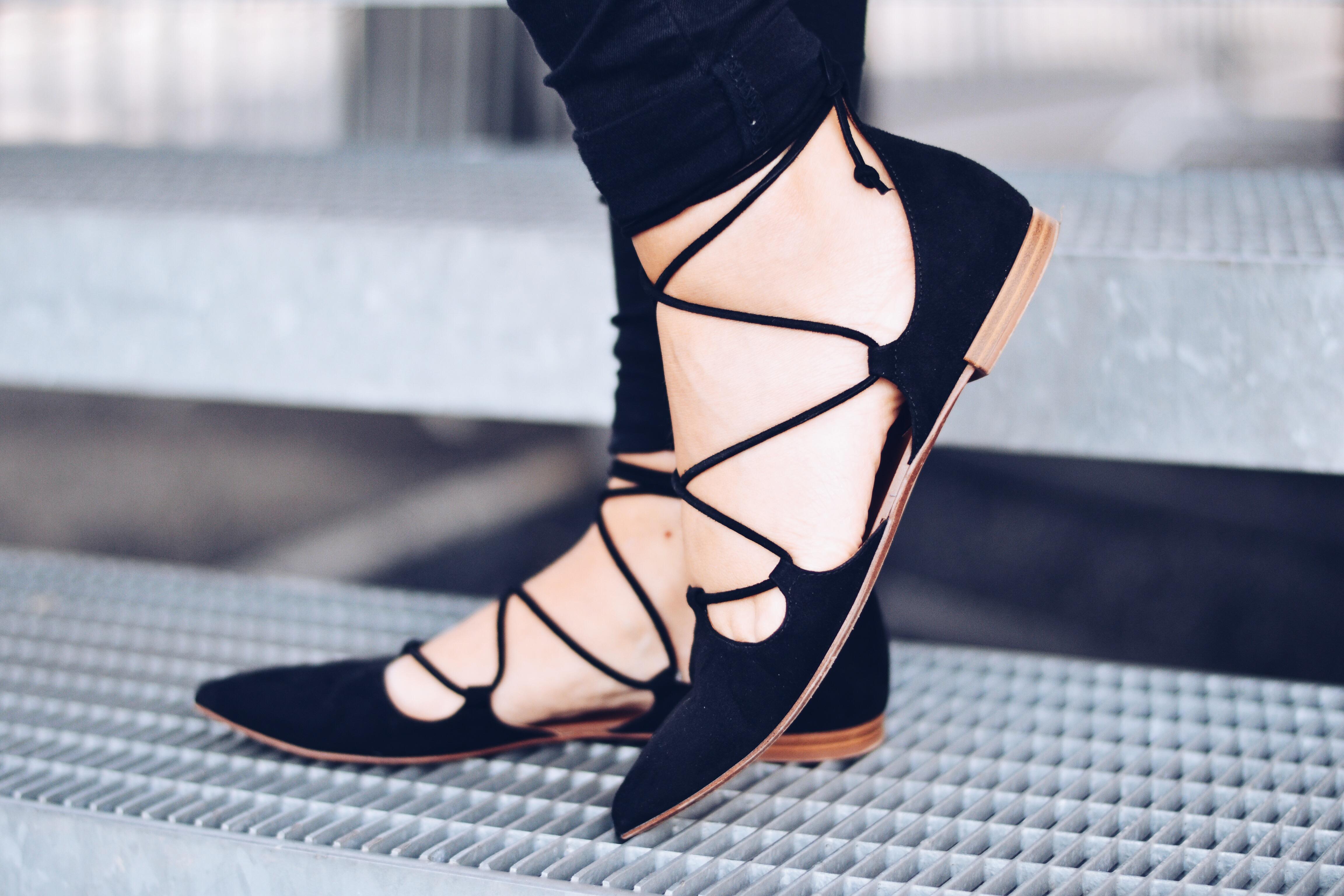 allthatchoices - lace up sandalen