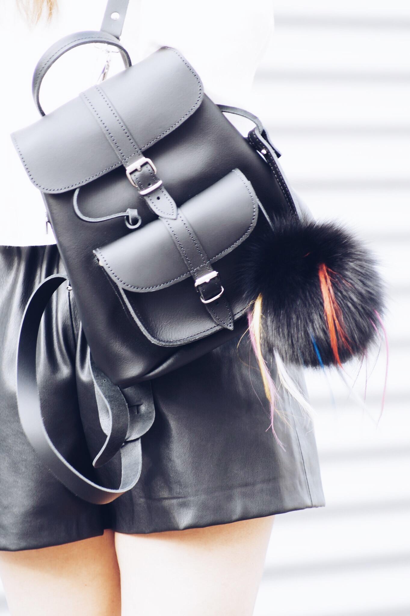 allthatchoices Ledershorts off shoulder zara bluse bronde daniel wellington mules grafea rucksack