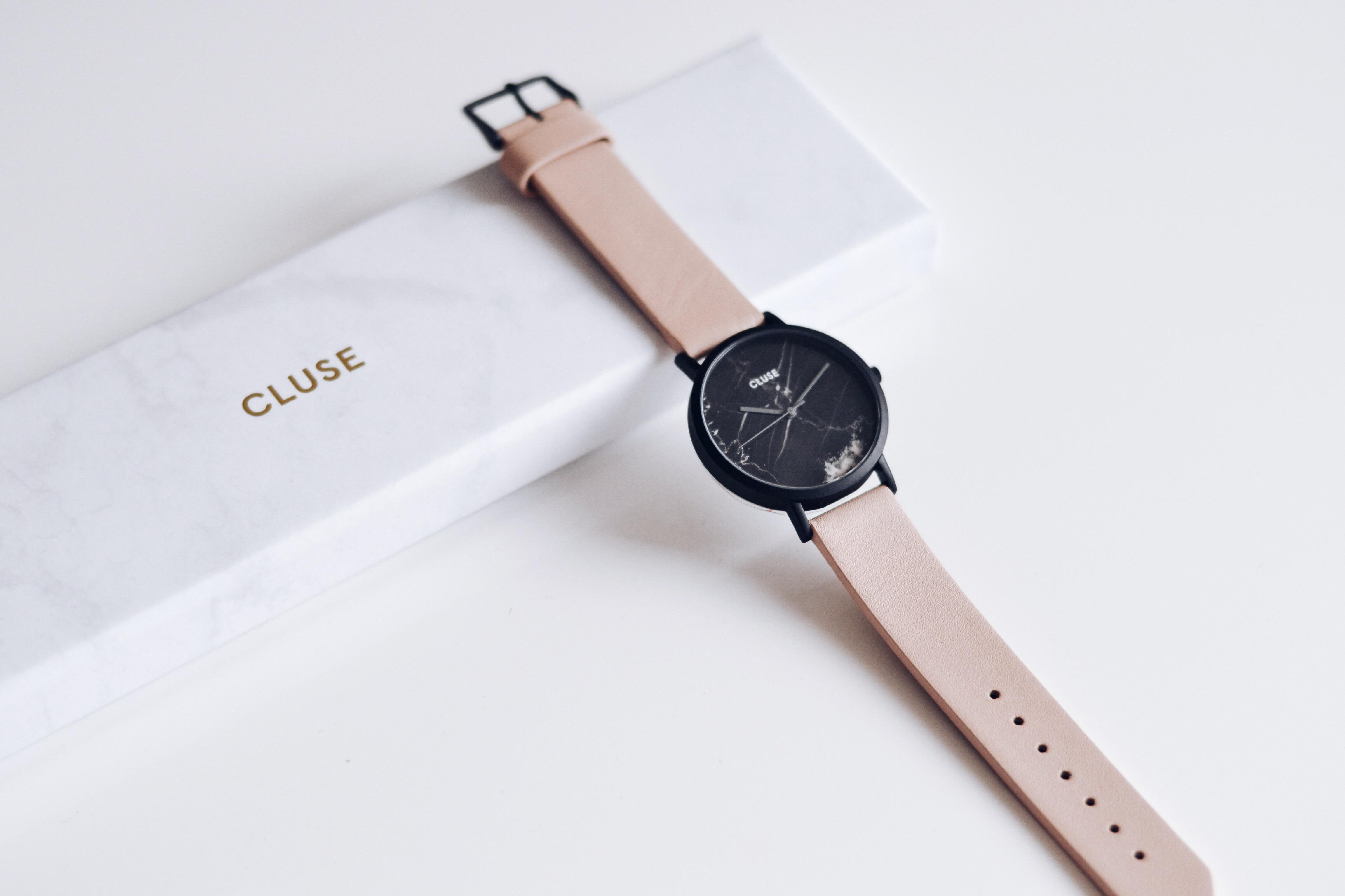 allthatchoices-minimalistic-watch-cluse-marble-rose-altrosa-schwarz-marmor-armbanduhr-scandi-scandinavian-style-fashionblogger-rosequartz-minimal-1